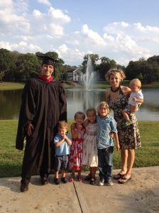 A Masters of Divinity AND two more kids...all in three years time. Pretty productive, I'd say.